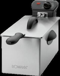 Bomann Edelstahl-Fritteuse FR 2264 CB edelstahl/schwarz