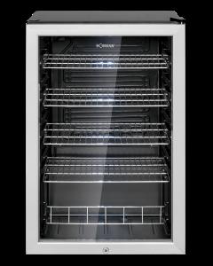 Bomann Glastür-Kühlschrank KSG 7283 schwarz