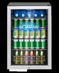 Bomann Glastür-Kühlschrank KSG 7284 schwarz