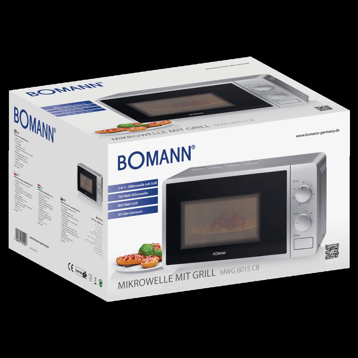 Bomann MWG 6015 CB Mikrowelle Freistehend Silber Neu
